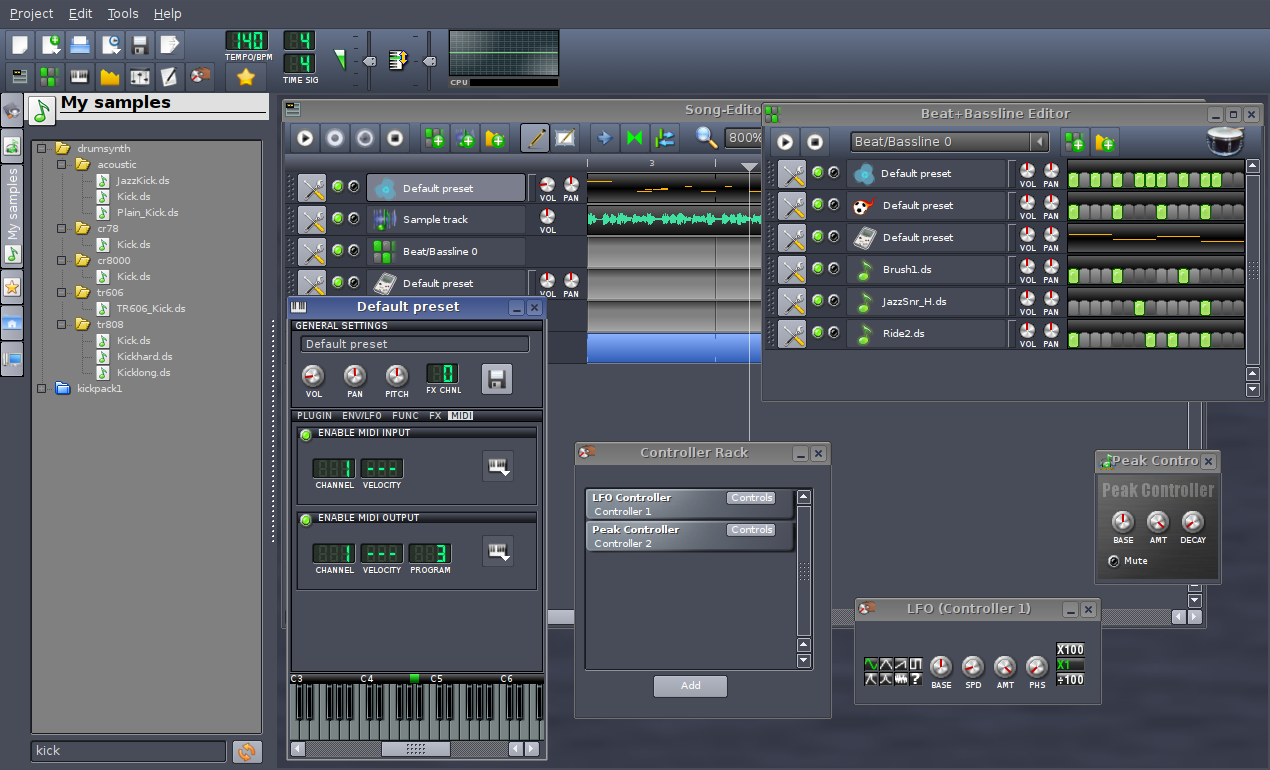 Introduction to Linux MultiMedia Studio (LMMS) | Linuxaria